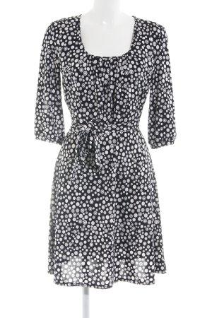 Joachim Bosse A-Linien Kleid schwarz-weiß Punktemuster Elegant