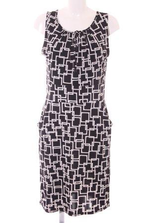 Joachim Bosse schulterfreies Kleid schwarz-weiß abstraktes Muster Elegant