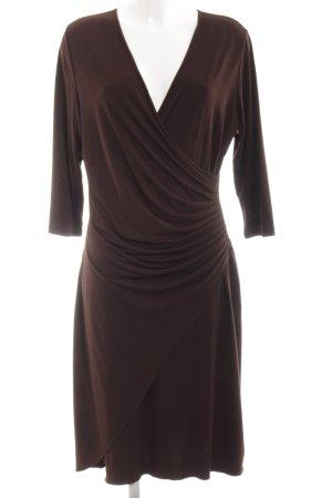 Joachim Bosse Stretch jurk bruin klassieke stijl