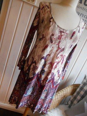 Joachim Bosse Vestido tipo túnica multicolor tejido mezclado