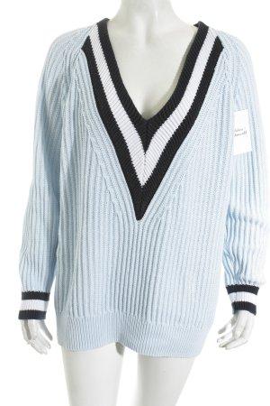 Joan Vass V-Ausschnitt-Pullover mehrfarbig klassischer Stil