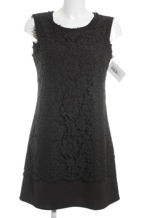 Joana Danciu Cocktailkleid schwarz florales Muster Elegant