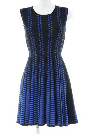 Joana Danciu Strickkleid schwarz-blau Allover-Druck Casual-Look
