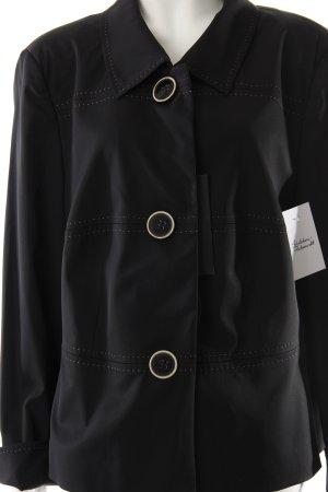 Jobis Kurz-Blazer schwarz-creme klassischer Stil