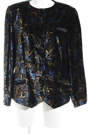Jobis Kurzjacke schwarz florales Muster Casual-Look