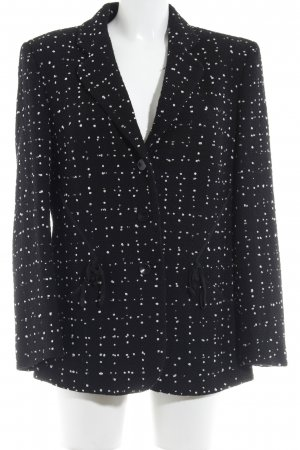 Jobis Long-Blazer weiß-schwarz Punktemuster Casual-Look