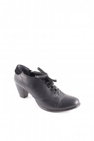 Jobis Lace-up Booties black simple style