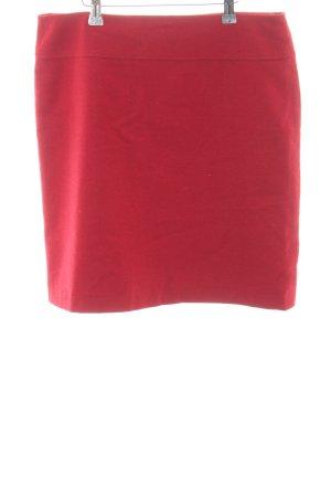 Jobis Jupe en laine rouge style d'affaires