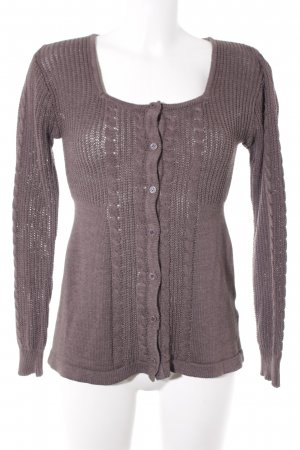 Joe Browns Strickjacke hellbraun Zopfmuster Casual-Look