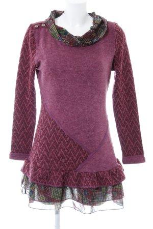 Joe Browns Gebreide jurk kleurvlekken patroon vintage uitstraling