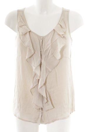Joe Taft ärmellose Bluse nude-beige Business-Look