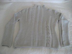 JOE TAFT dicker Pullover 100% Kaschmir/ Cashmere hellblau Gr. M-40