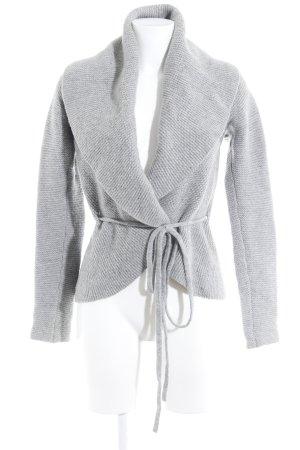Joe Taft Cardigan in maglia grigio chiaro stile casual
