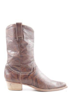 Joe Taft Botas estilo vaquero marrón-negro look casual