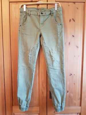 Takko Slim Jeans olive green-khaki