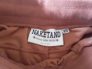Naketano Sweat Pants cognac-coloured polyester