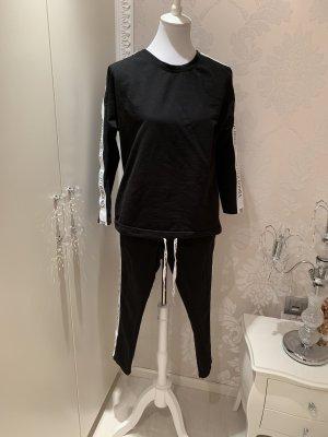 Jogging Anzug einheitsgrösse schwarz weiss