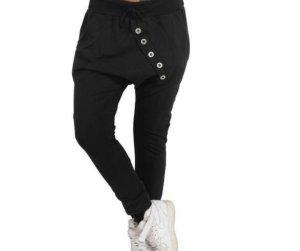 Pantalón abombado negro Poliéster