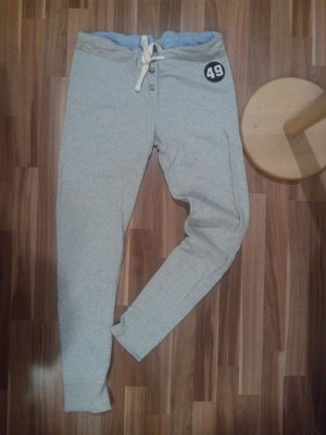 jogging jogginghose 49 grau oxford blau sweatpants Tunnelzug