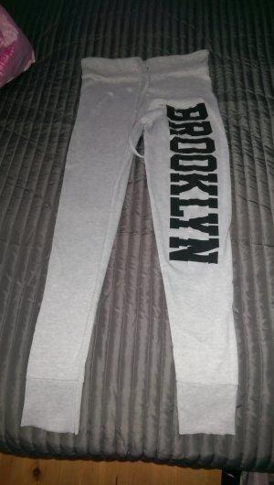 Pantalone fitness grigio chiaro