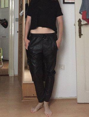 Jogging Pants in Lederoptik von minimum