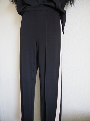 H&M Lage taille broek zwart Gemengd weefsel