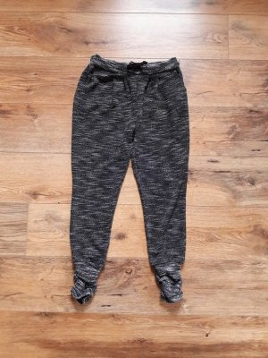 Jogging Sweat Pants Hose schwarz weiß Gr. M