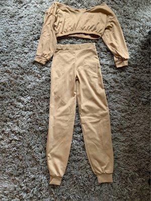 MissyEmpire Twin Set tipo suéter beige-camel