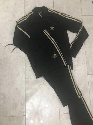 Adidas Suit Trouser black-gold orange