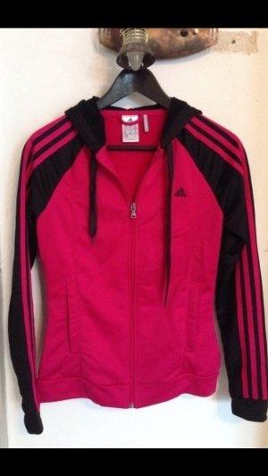 Jogginganzug Adidas schwarz-pink, neuwertig