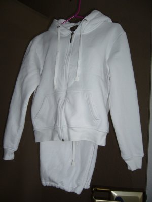Leisure suit white cotton