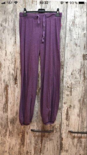 Pantalone jersey marrone-viola