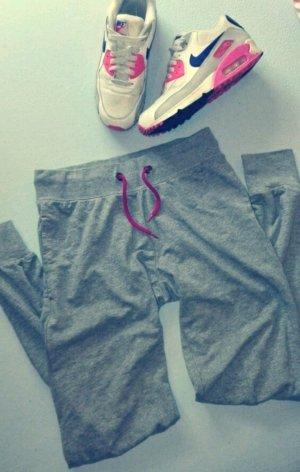 Jogginghose 36/38 grau pink