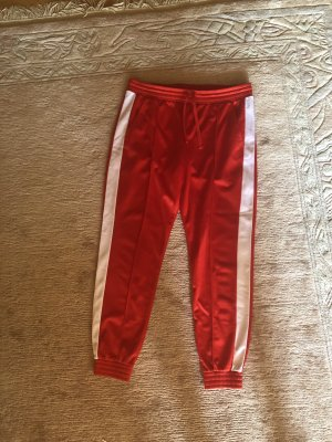 H&M Strapped Trousers red-white
