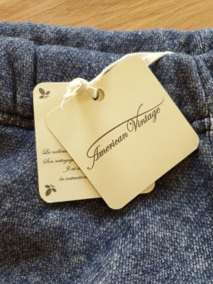 American Vintage Pantalone fitness blu