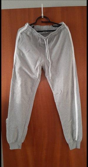 Wollen broek wit-grijs