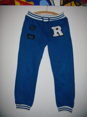 Jogginghose  blau mit weiß und schwarz