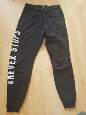 Bershka Trackies white-black cotton