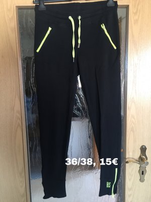 His Pantalone nero-giallo neon