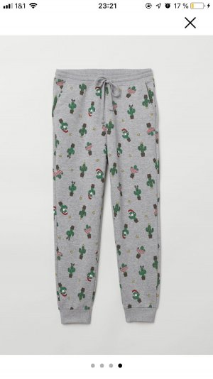 H&M Pantalón abombado gris claro