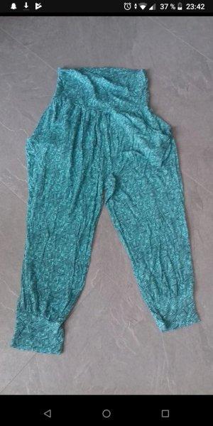 Takko Pantalón estilo Harem azul-verde
