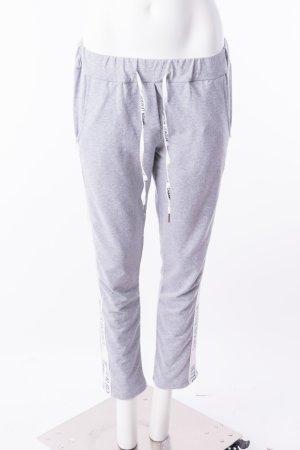 Jogginghose Jogpants Track Pants mit Kontraststreifen Statement Grau One Size NEU
