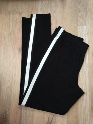 Takko Pantalon de sport blanc-noir