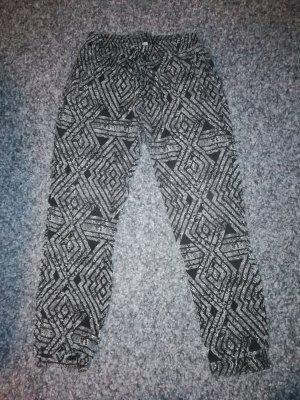 Jogginghose schwarz/weiß gemustert L