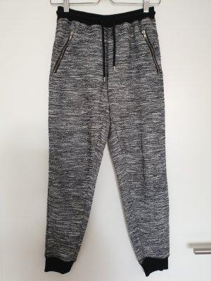 Jogginghose schwarz weiß meliert