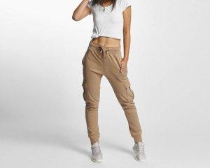 Pantalon de jogging brun-marron clair coton