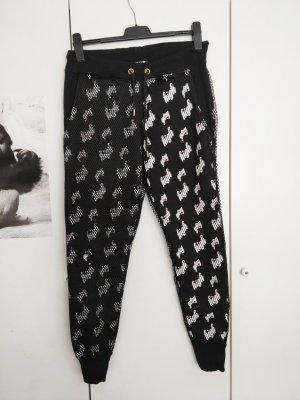 Pantalón deportivo blanco-negro