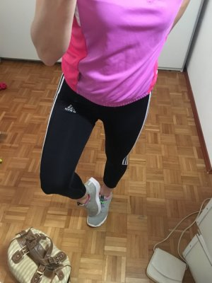 Adidas Sportbroek zwart-wit Polyamide