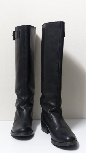 Vera Gomma Jackboots black leather