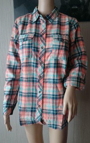 john baner - Damen kuschelig komfortable Flanell-Bluse